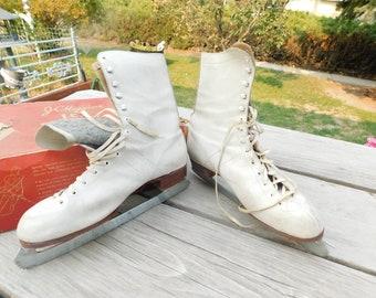 JC Higgins Figure and Speed Skating, Sears an Roebuck, Vintage Ice Skates Sz, Vtg Ice Skates in Box, Winter Sports, daysgonebytreasures D*