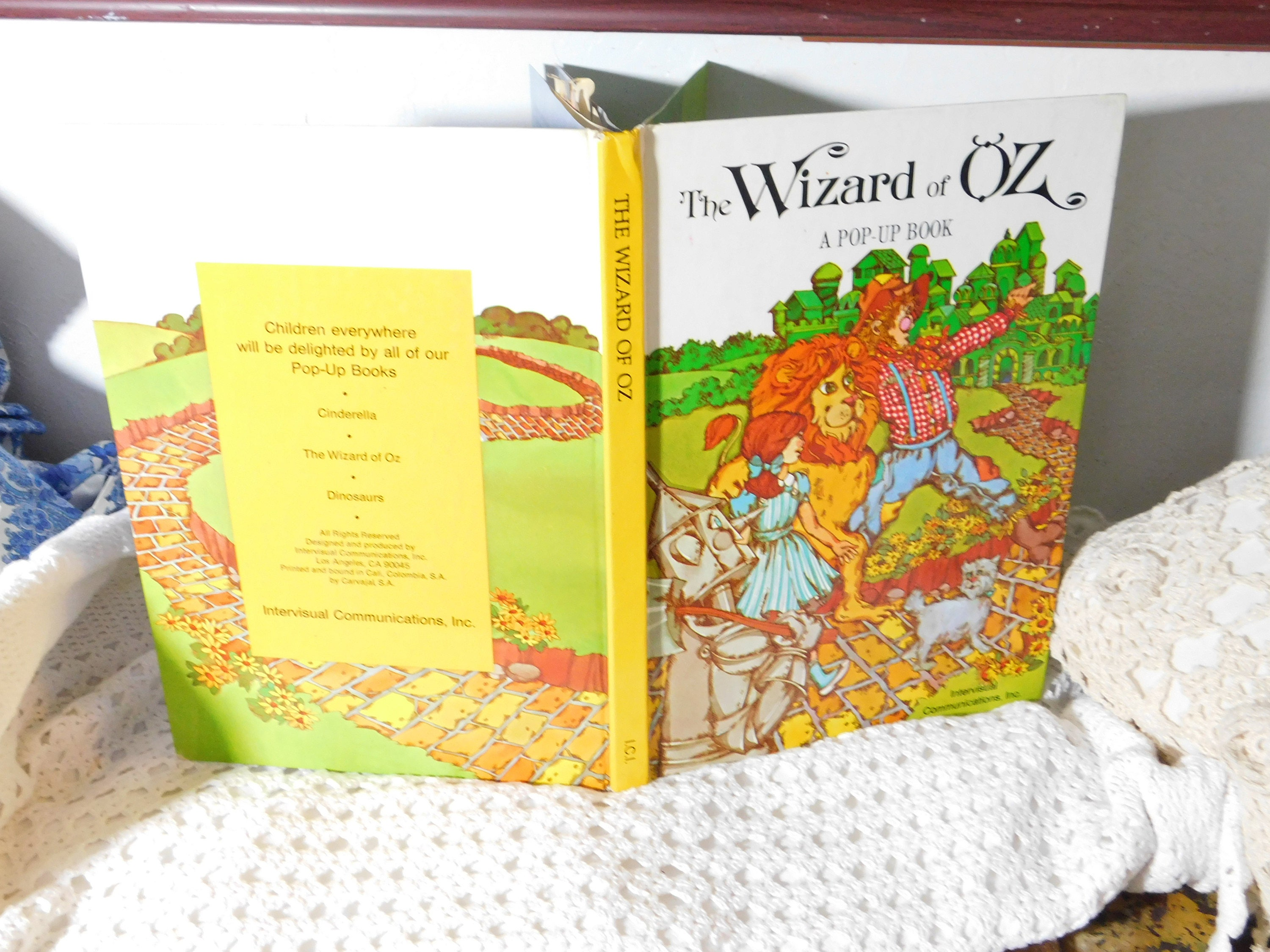 The Wizard of Oz Pop Up Book Intervisual Communications 1995
