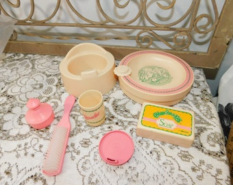 Cabbage Patch Doll Accessory Group 1983, Cabbage Patch Dolls, Doll Accessory's, Doll Dishes,Toy Dishes  :)s*