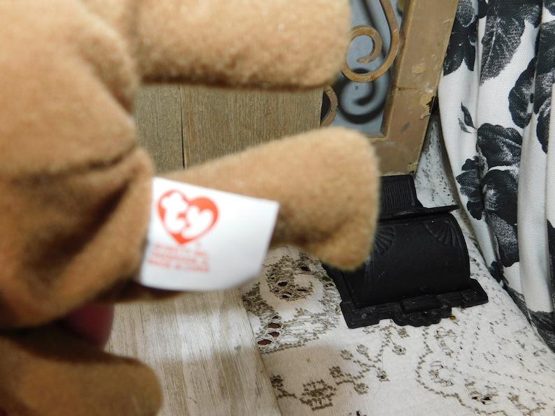 Vintage Stuffed Animal Vintage Toys, Tiny Ty Britannia Bear  1999 Vintage Ty Stuffed Animal Vintage Ty Stuffed Bear