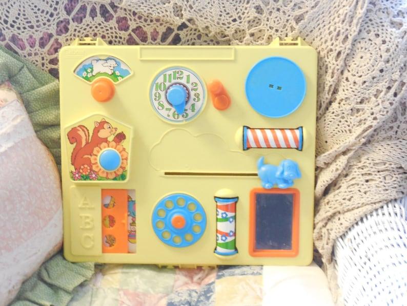 Vintage Baby Toy Vintage Crib Toy Gabriel Busy Box Activity Etsy