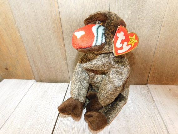 TY Cheeks Baboon Beanie Baby Vintage Ty Beanie Baby Vintage  eb5bfe98352