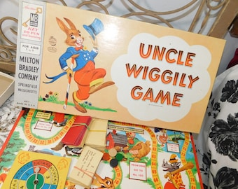 Uncle Wiggly Board Game 1954, Vintage Board Games, Board Games, Children's Board Game, Vintage Children's Board Game :)s*