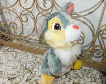 Disney Thumper Rabbit from the Bambi Movie, Thumper, Rabbit, Bunny, Vintage Stuffed Animals, Disney Toys :)s*,