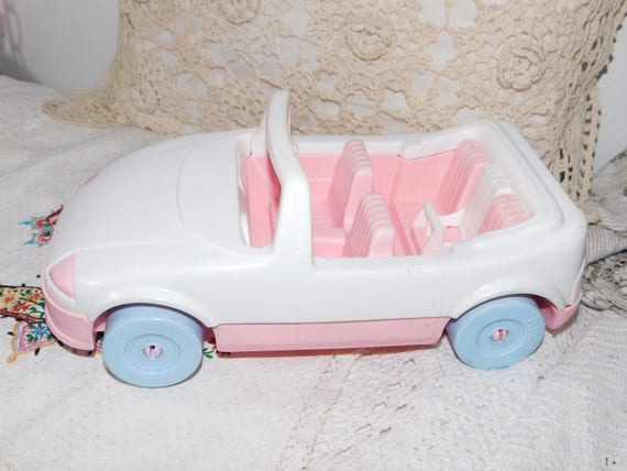 Playskool Pink And White Car To Victorian Doll House 1992 Etsy