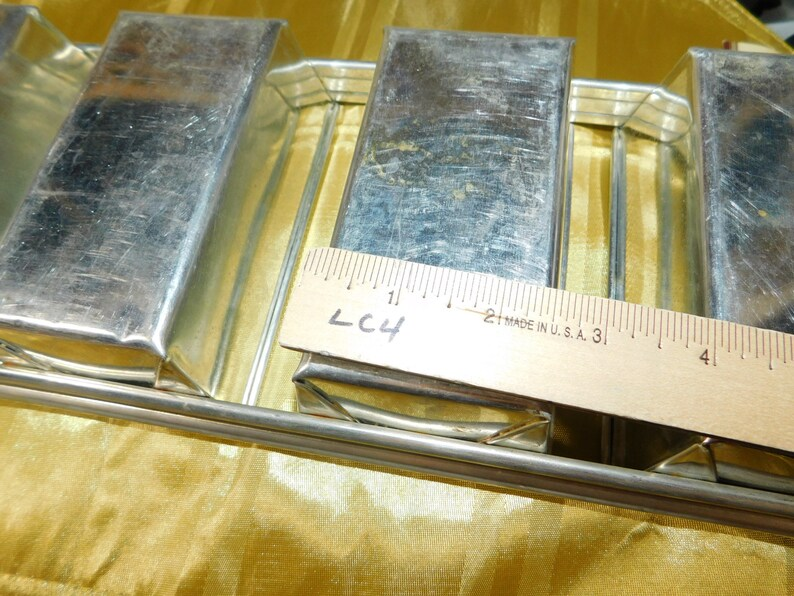 Attached Mini Bread Loaf Pans, Mini Bread Loaf Pan, Bread Loaf Pan, Vintage Kitchen,: s*