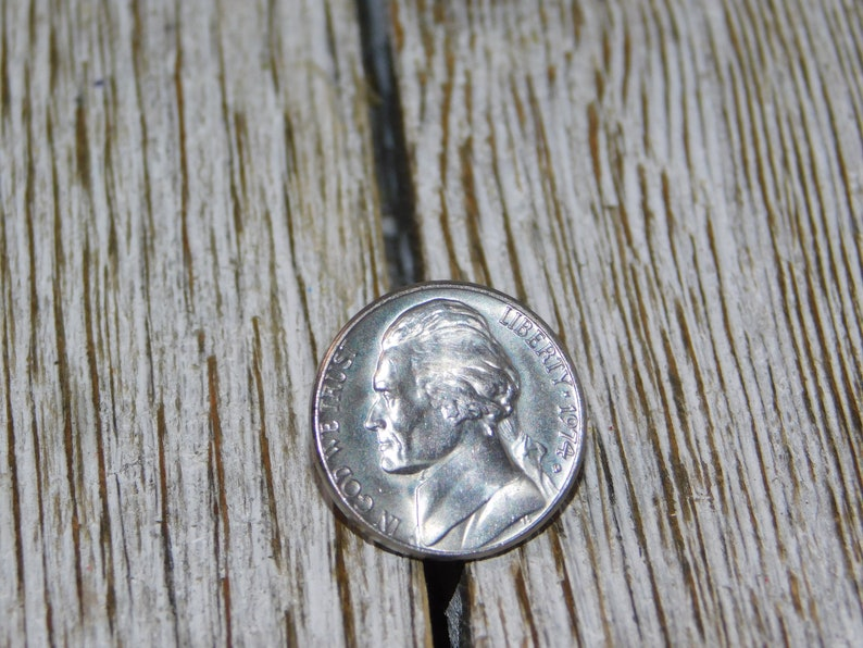 Nickle Push Back Button gift idea, Vintage Pin Nickle Vintage Nickle Pin 1974 Vintage jewelry