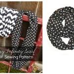 Sewing PATTERN Easy Infinity Scarf or Loop Scarf-  PDF - Instant Download