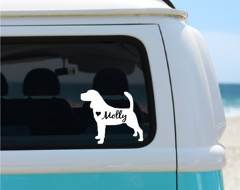 Beagle Decal | Personalized Decal | Car Decal |  Laptop Decal | Window Decal | iPad Decal | Notebook Decal | Vinyl | Beagle