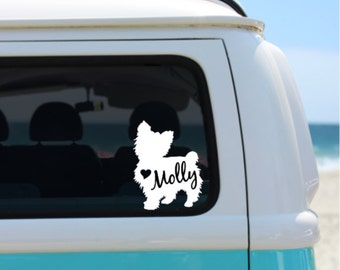 Yorkshire Terrier Decal | Personalized Decal | Car Decal |  Laptop Decal | Window Decal | iPad Decal | Notebook Decal | Yorkie Decal