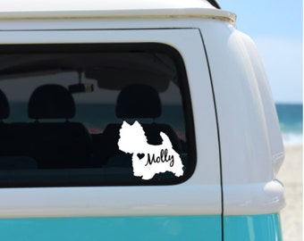 Westie Decal   Personalized Westie Decal   Car Decal    Laptop Decal   Window Decal   Notebook Decal   iPad Decal 