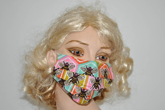 Mask Bees Lover Honey Face Bees Designer Cute Mask Bee Surgical Flu Bee