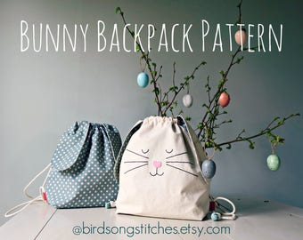 Bunny Backpack Sewing Pattern