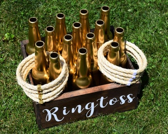 Custom Ring Toss. Personalized Ringtoss, Customized Rose Gold Wedding Over sized Big Outdoor Wedding Yard Lawn Game!