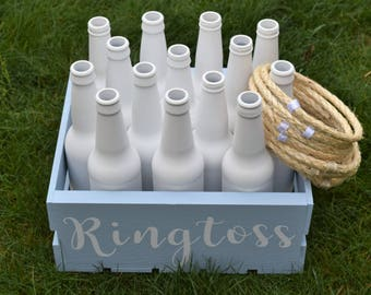Personalized Ring Toss, Customized Ringtoss Wedding Yard Game, Wedding Over sized Big Outdoor Wedding Yard Lawn Game!