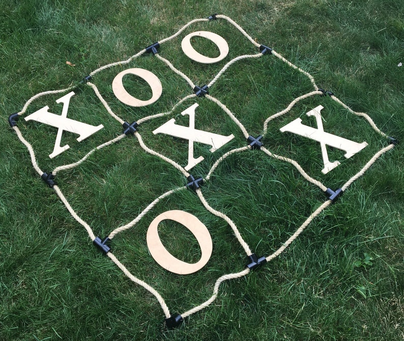 Personalized Tic Tac Toe Initials Fun Wedding Over sized Big image 0