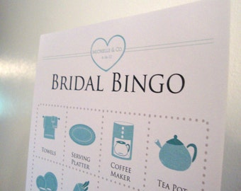 Jewelry Themed Bridal Shower Bingo Cards - 4x4 - Set of 20