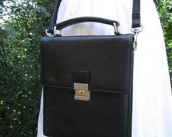 26d8b405afc88 Vintage Messanger Bag Bodenschatz ECHTES LEDER