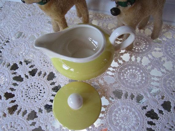 Vintage milk jug Villeroy Boch shabby yellow 50s