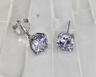 Birthstone Jewelry June Birthstone Earrings June Jewelry Tiny Alexandrite Silver Earrings June Earrings Small Drop Earrings