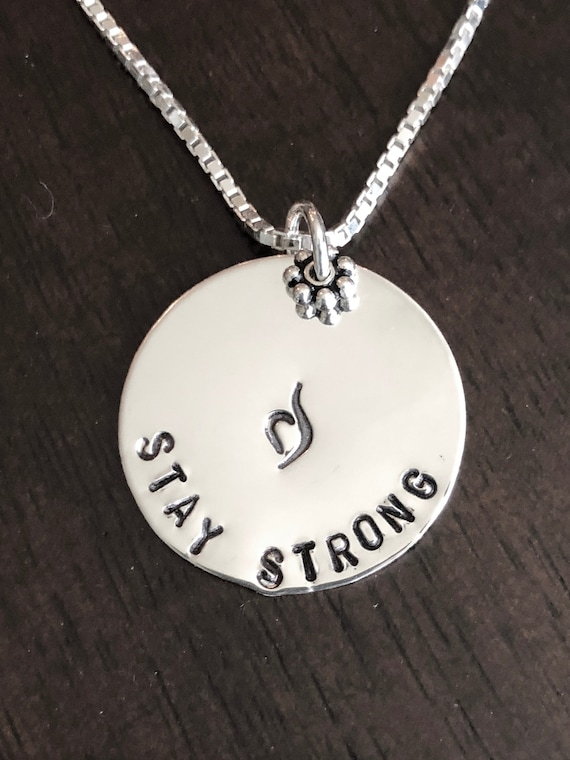 Stay Strong Personalized Necklace Neda Recovery Gift Etsy