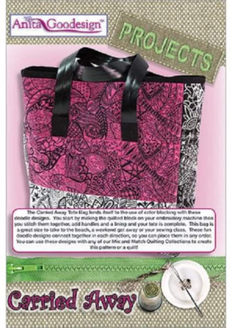 CARRIED AWAY ToTE Anita Goodesign Embroidery Machine Design CD CaRRIED AWaY TOTe