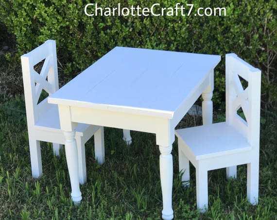 Children Farmhouse Table and Chairs