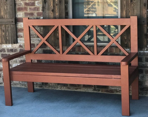 Large farmhouse bench