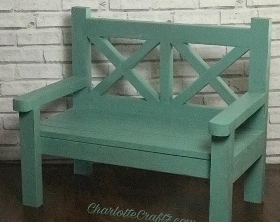 Children Large farmhouse bench