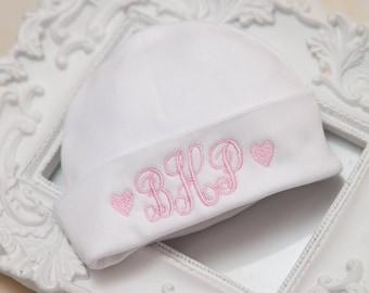 Hospital Baby Girl Newborn Hat Personalized  Newborn Baby Hospital Hat
