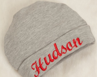 Embroidered Infant Baby Boy Hat Cotton Personalized Baby Boy Hat f5e02ba23694