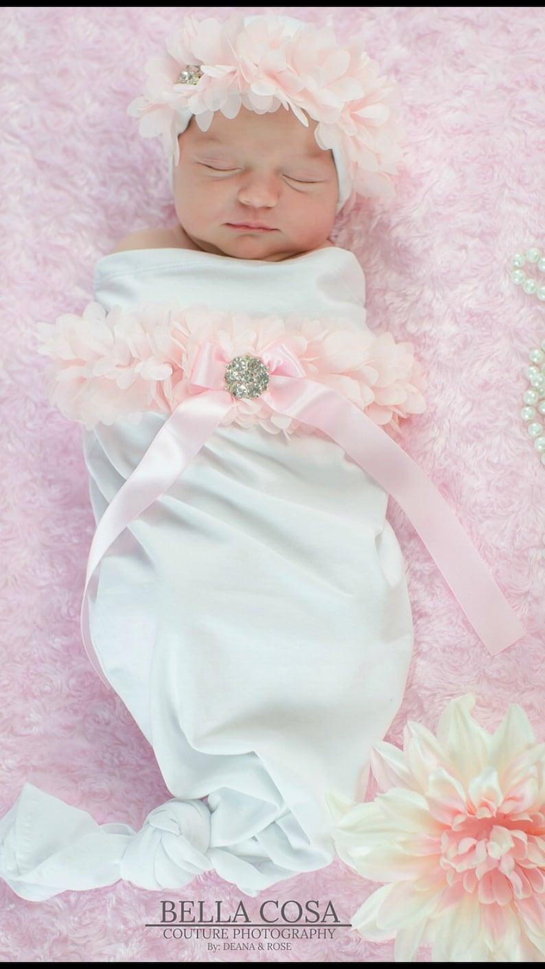 43ecaaff6868 Newborn Baby Girl White Baby Sack Infant Layette Cotton Baby | Etsy