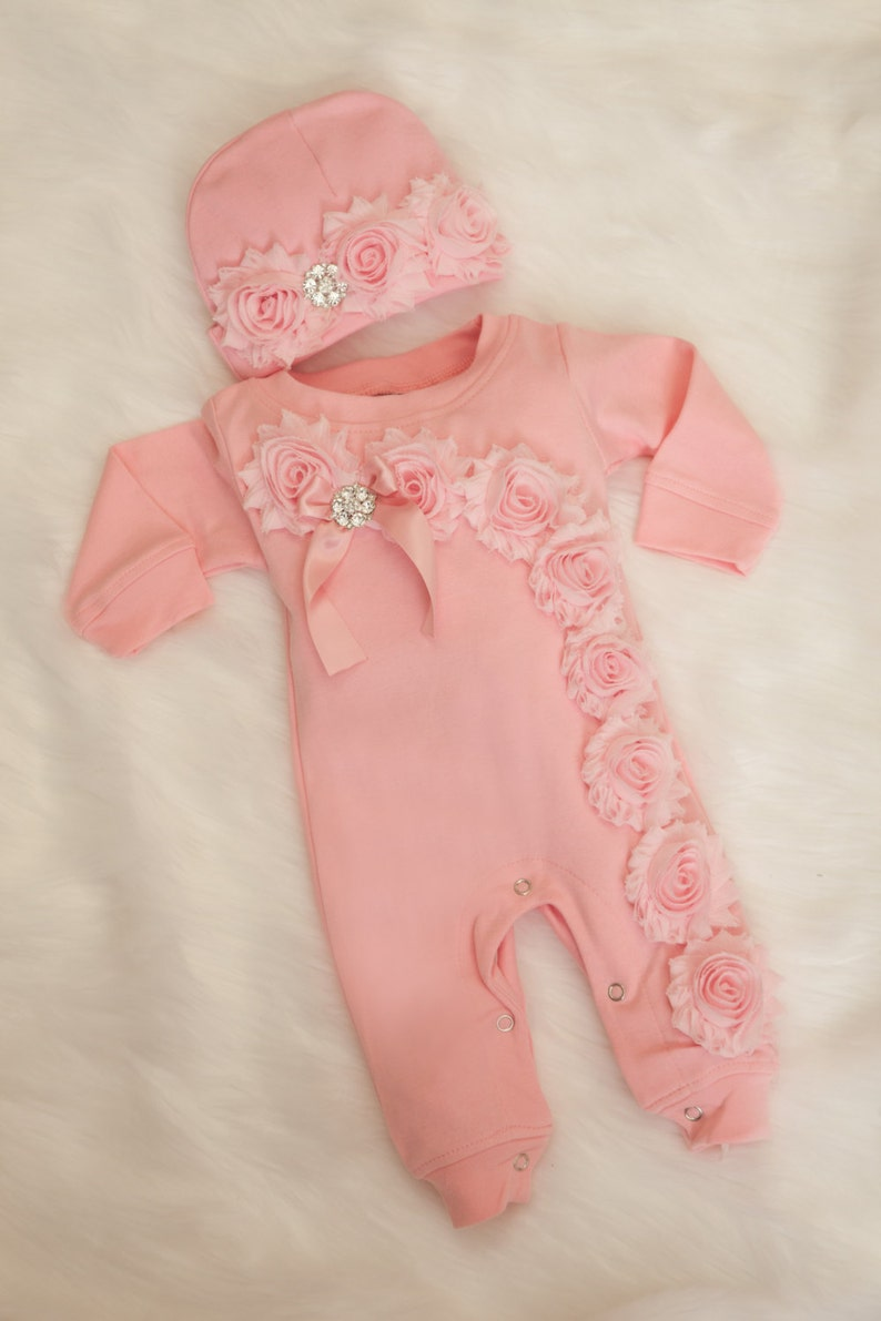 10a2237da Baby Girl Pink Romper Baby Girl Romper Set Infant One Piece