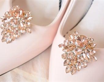 Blush Rhinestone Shoe Clips,Blush Bridal Shoe Clips,Blush Wedding Shoe Clip,Blush Crystal Shoe Clips,Blush Shoe Jewelry,Blush Shoe Accessory