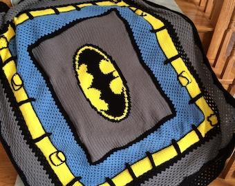 Batman Crochet Graphghan Blanket Pattern (PDF file only) - inspired by DC comics Batman