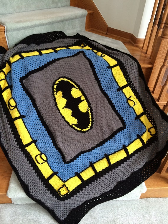 Batman Crochet Graphghan Blanket Pattern (PDF file only) - inspired by DC comics Batman