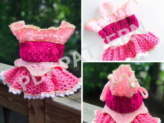 Princess Aurora Crochet Purse Pattern (PDF file only) - inspired by Disney Sleeping Beauty