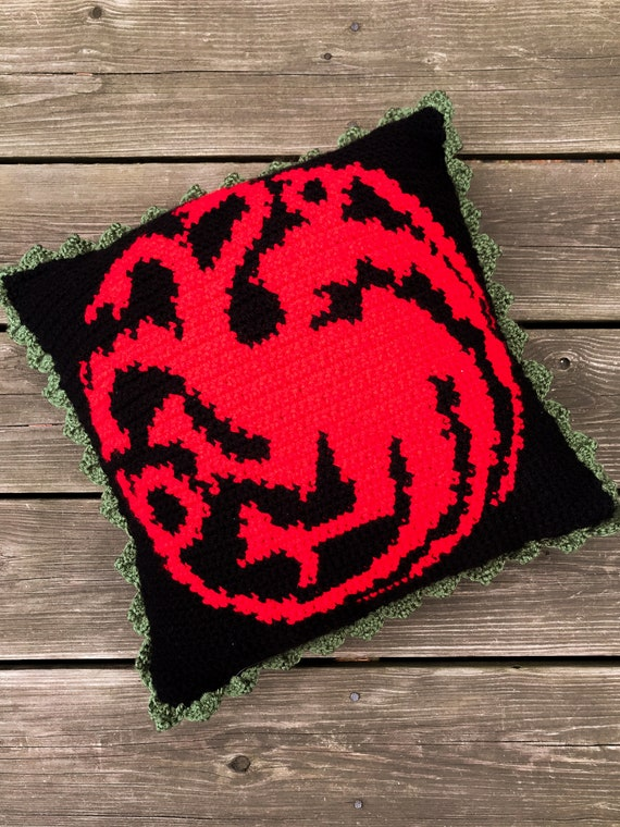 GOT Targaryen Crochet Graphghan Pillow Pattern (PDF file only) - inspired by HBO's Game of Thrones