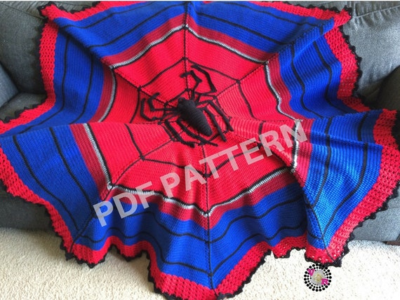 Spiderman Crochet Graphghan Blanket Pattern (PDF file only) - inspired by Marvel comics Spider Man