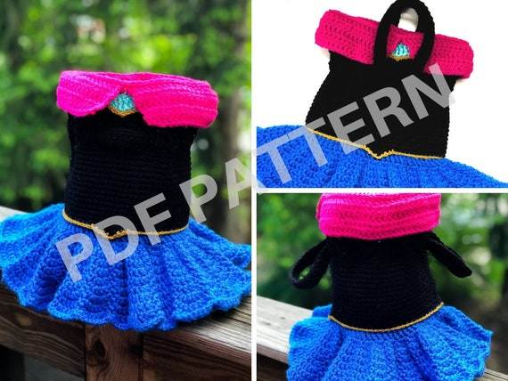 Princess Anna Crochet Purse Pattern (PDF file only) - inspired by Disney Frozen