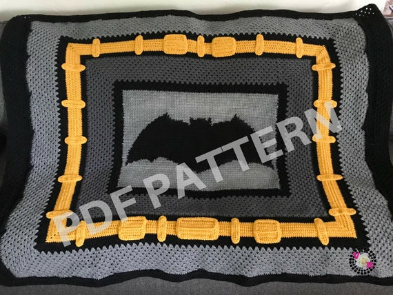 Justice League Batman Crochet Graphghan Blanket Pattern (PDF file only) - inspired by DC comics Batman