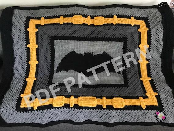 Justice League Batman Crochet Graphghan Blanket Pattern (PDF file only) - inspired by DC comics Batman