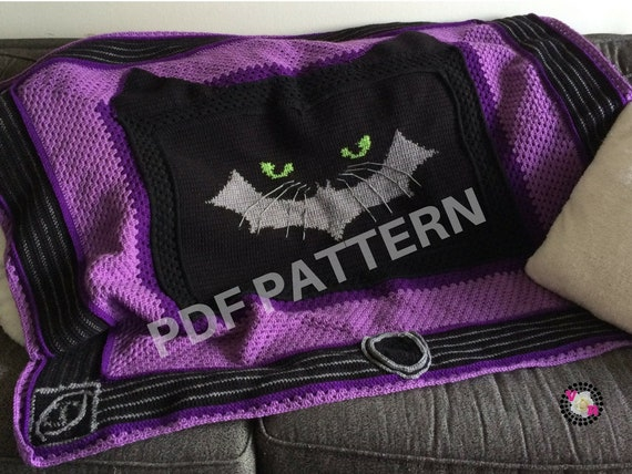 Catwoman Crochet Graphghan Blanket Pattern (PDF file only) - inspired by DC comics Cat Woman