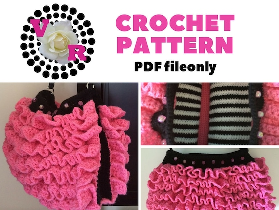 Crochet Ruffle Purse Pattern | Pink Purse | Crochet Pattern | Girls | Gift | Easy