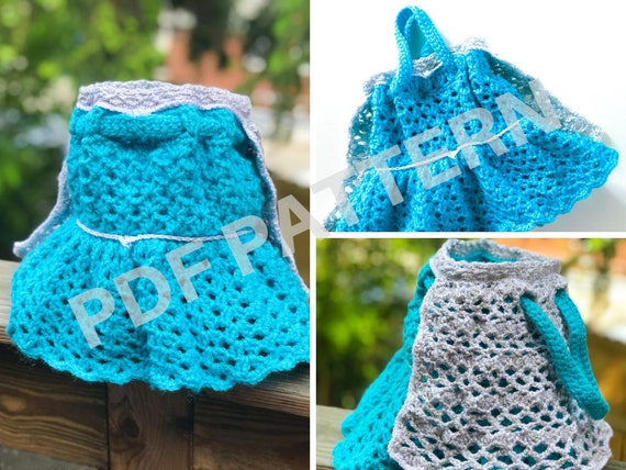 Queen Elsa Crochet Purse Pattern (PDF file only) - inspired by Disney Frozen