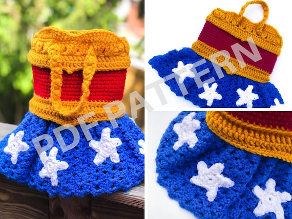 Wonder Woman Crochet Purse Pattern (PDF file only) - inspired by DC Comics