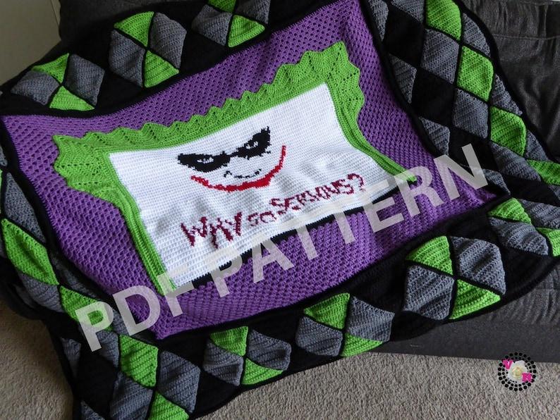 Joker Crochet Graphghan Blanket Pattern PDF file only  image 0