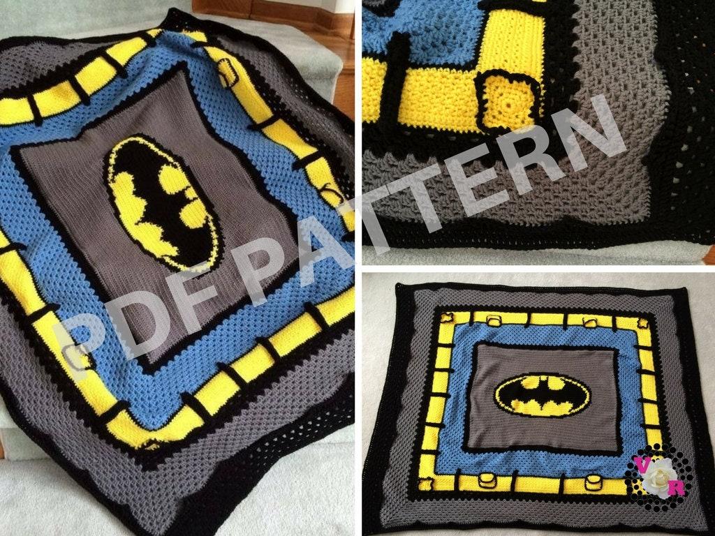 Crochet Batman Blanket Pattern Includes Graph Written Etsy