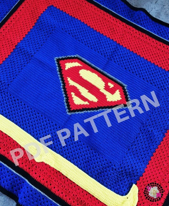Supergirl Crochet Graphghan Blanket Pattern (PDF file only) - inspired by DC comics Supergirl