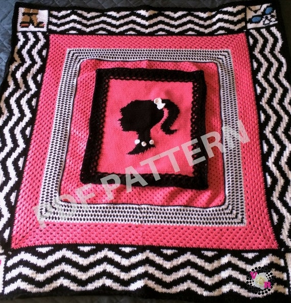 Vintage Barbie Graphghan Blanket Pattern (PDF file only) - inspired by Barbie